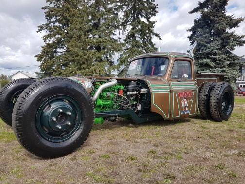 56 Rat Rod Truck twin turbo Cummins  for Sale $45,000