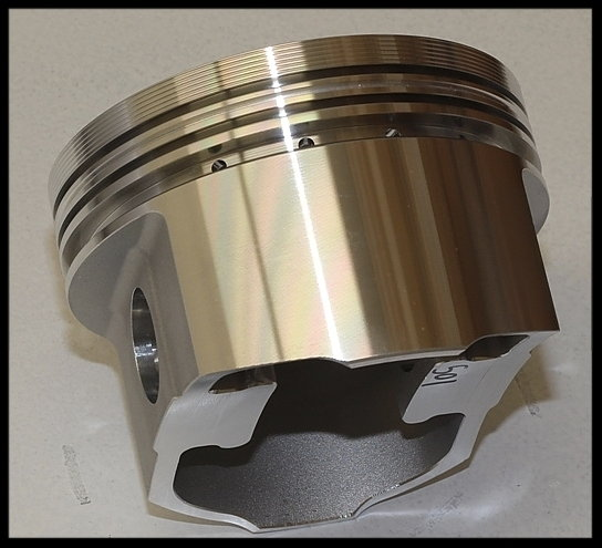 BBC CHEVY 555 MERLIN SHORT BLOCK FORGED PISTONS +12.5 DOME  for Sale $3,995