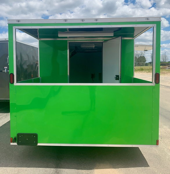 8.5x20TA Electric Green BBQ/Concession Trailer  for Sale $16,799