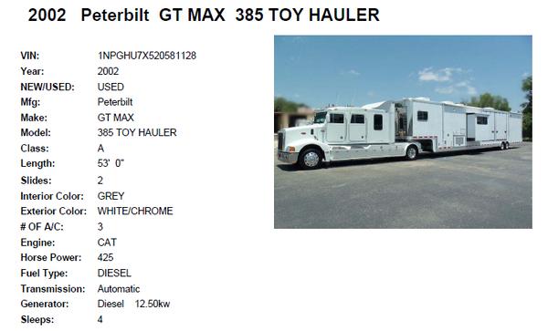 Featherlite / Peterbilt Combo   for Sale $235,000