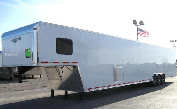 SOLD 48' Gooseneck Trailer with LARGE BATHROOM