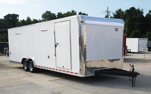 2019 8.5x28 Lark Race Trailer with Lights & Cabinets