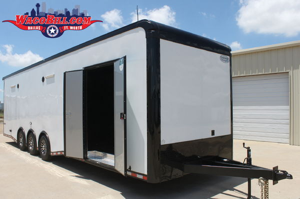 32' Black-Out Auto Master +18 SPD-LED Race Trailer Wacobill.