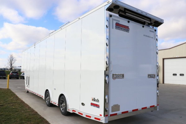 2019 inTech 40' Aluminum Gooseneck Sprint Car Trailer  for Sale $77,249
