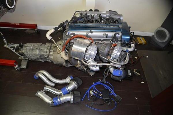 Toyota Supra HKS Twin Turbo 6 Speed VVTI Engine 2JZGTE JZA80  for Sale $6,000