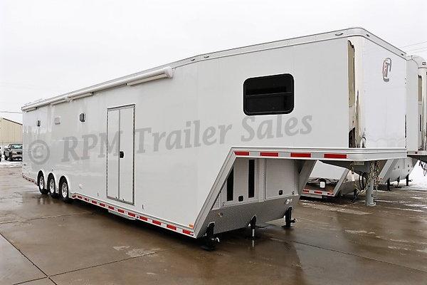 48' Custom Aluminum Race Trailer with Bathroom Package - 125