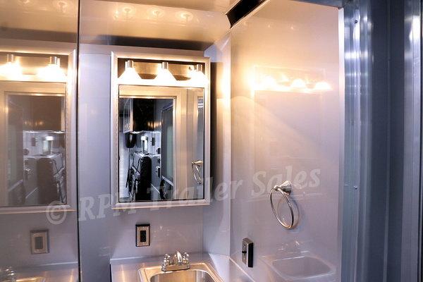 26' Custom Aluminum Trailer with Bathroom Package - 11620