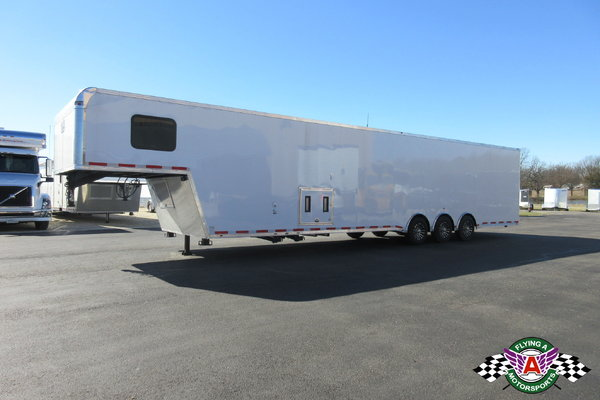 2019 Vintage 44' Pro Stock Race Trailer with Bathroom #00253