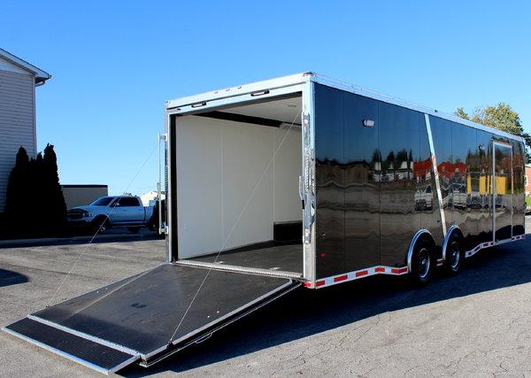 2019 Black Turn-Key 28' Enclosed Race Car Trailer