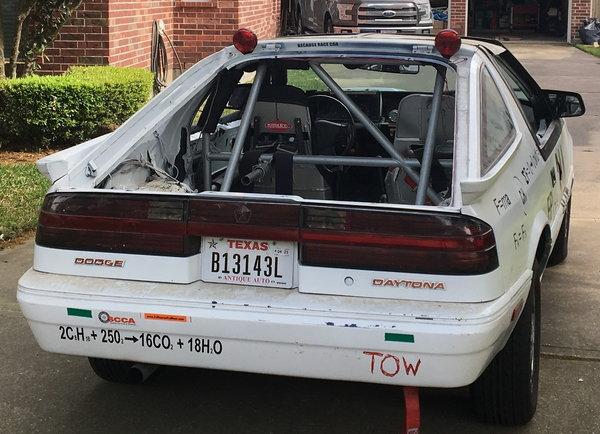 1988 Dodge Daytona Shelby Z - Endurance Race Car  for Sale $3,800