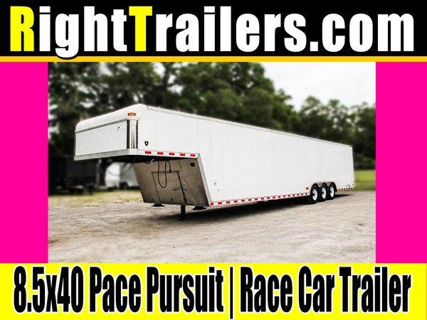 8.5x40 Pace Pursuit   Gooseneck Race Car Trailer