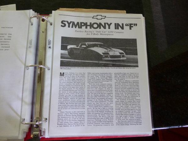 1986 Camaro IMSA GTO Historic Race Car