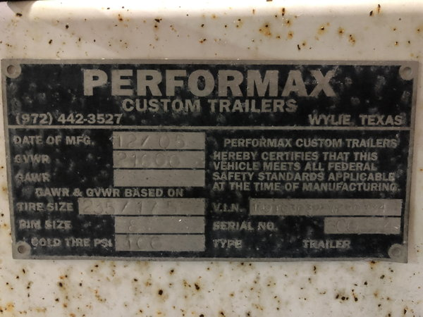 Performax  for Sale $40,000