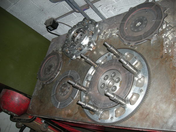 """AFT triple 9"""" clutch with trick titanium housing SBF  for Sale $3,800"""