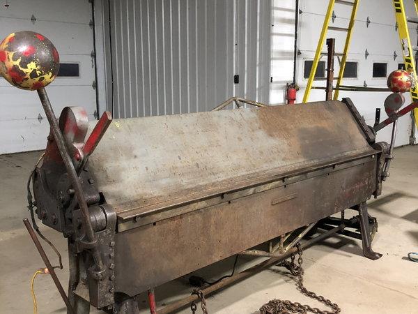 Heavy duty 8' sheet metal brake