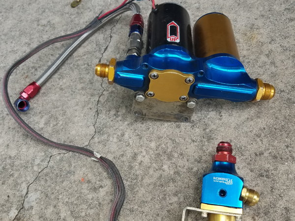 Fuel pump  Filter, with AN lines and fitting & Regulator  for Sale $350