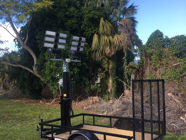 Trailer Light Tower Mast and LED Lights  for Sale $3,500