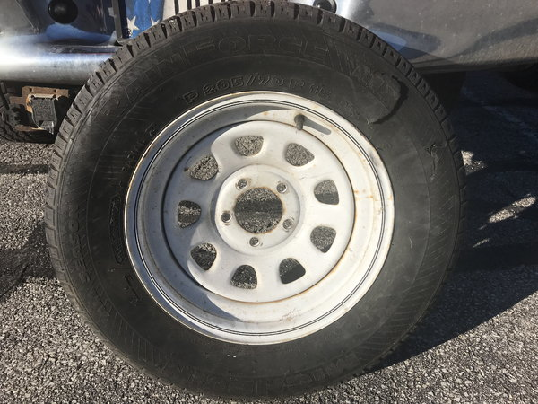 Trailer wheel  for Sale $20