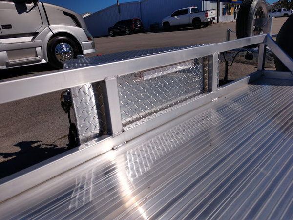 2019 Sundowner 18' All Aluminum Open Car Trailer with Spare  for Sale $6,495