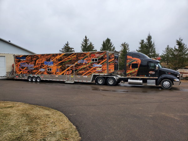 2009 53 foot trailer and 2006 Pete 389  for Sale $129,000