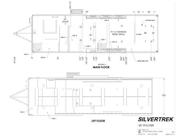 ATC-SilverTreck Custom PRO Stacker Trailer 33'- 2008:  for Sale $100,000