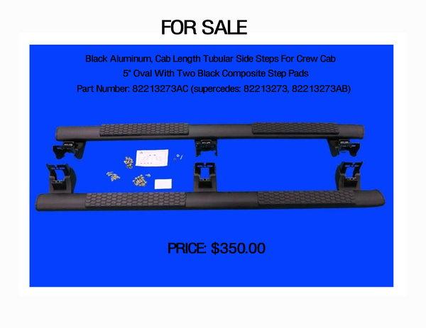 RAM Tubular side steps  for Sale $350
