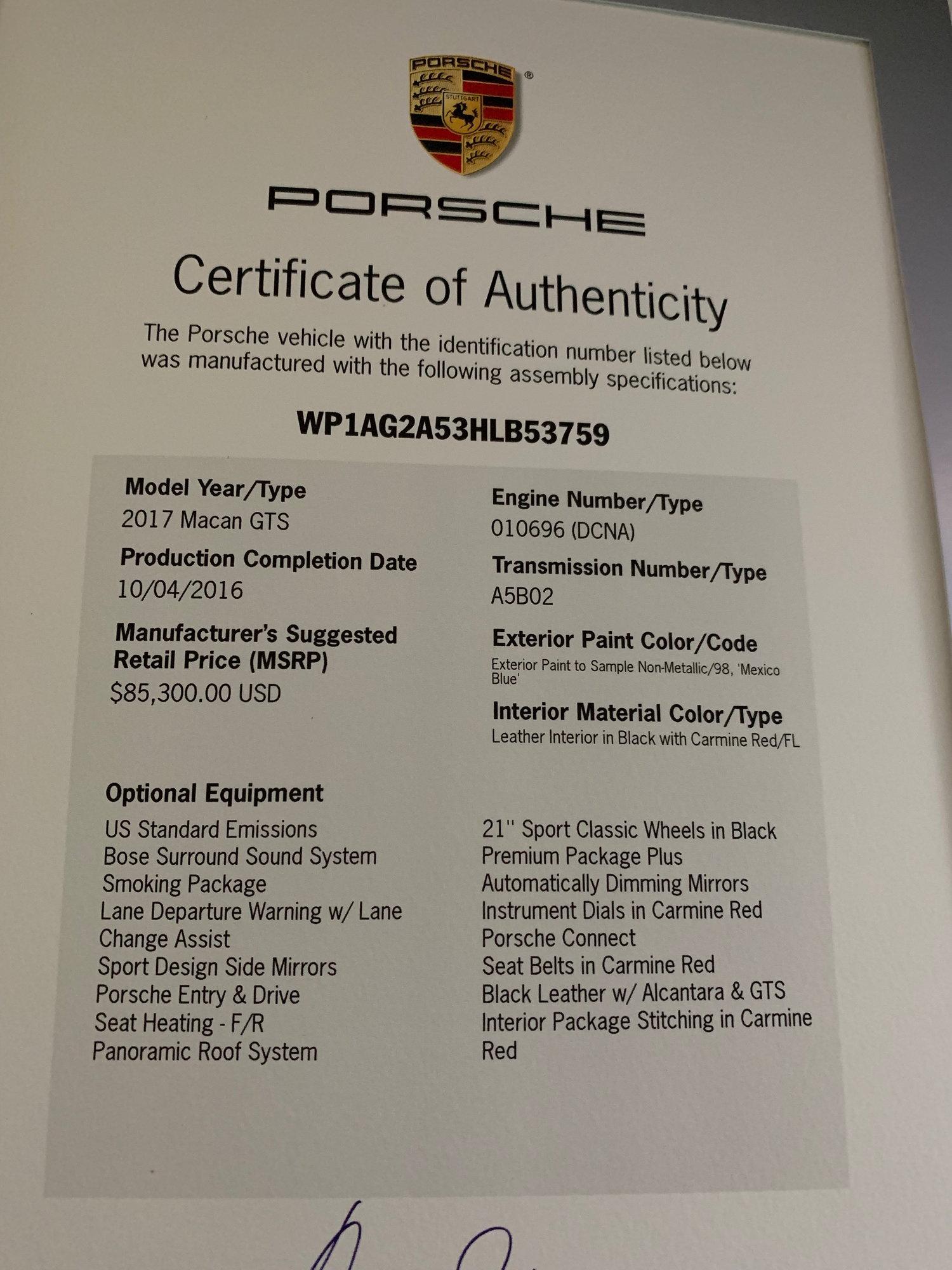 Porsche Macan GTS PTS Mexico Blue Exceptional - Rennlist - Porsche