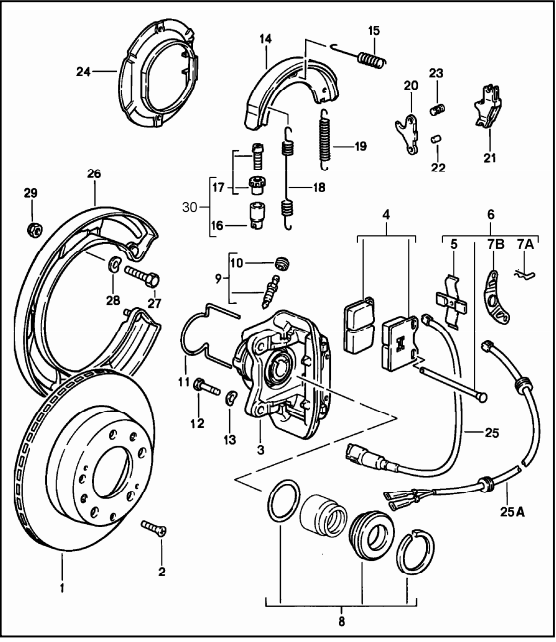 trick to getting return spring on parking brake reattached - rennlist