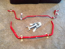 New front, rear sway bars, and upper control arm and bracket