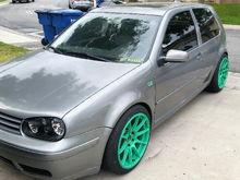 Wasabi green XXR's MK4 GTI