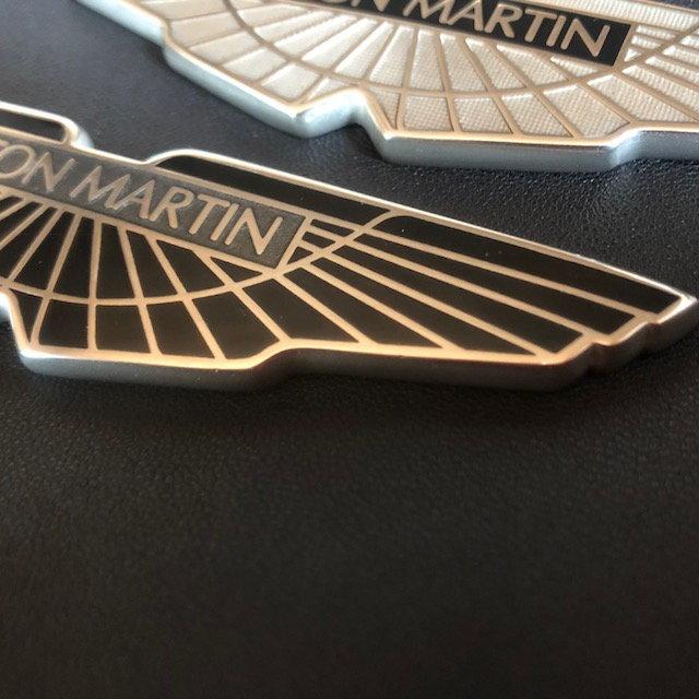 Custom Refinished Aston Martin Hood Emblems