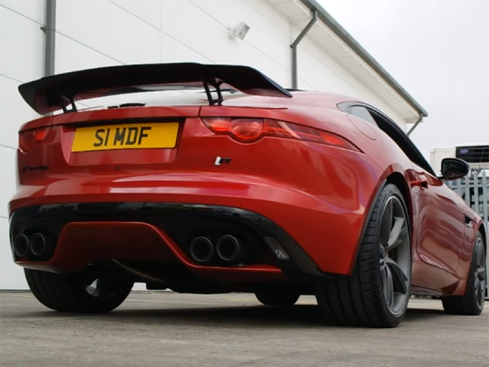 jaguar f type v8 coupe convertible sport exhaust from. Black Bedroom Furniture Sets. Home Design Ideas