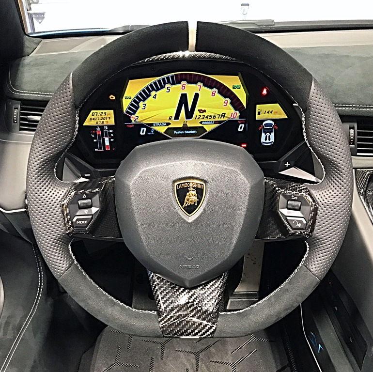Lamborghini Aventador Interior: Lamborghini Aventador Steering Wheel Carbon Fiber Trim