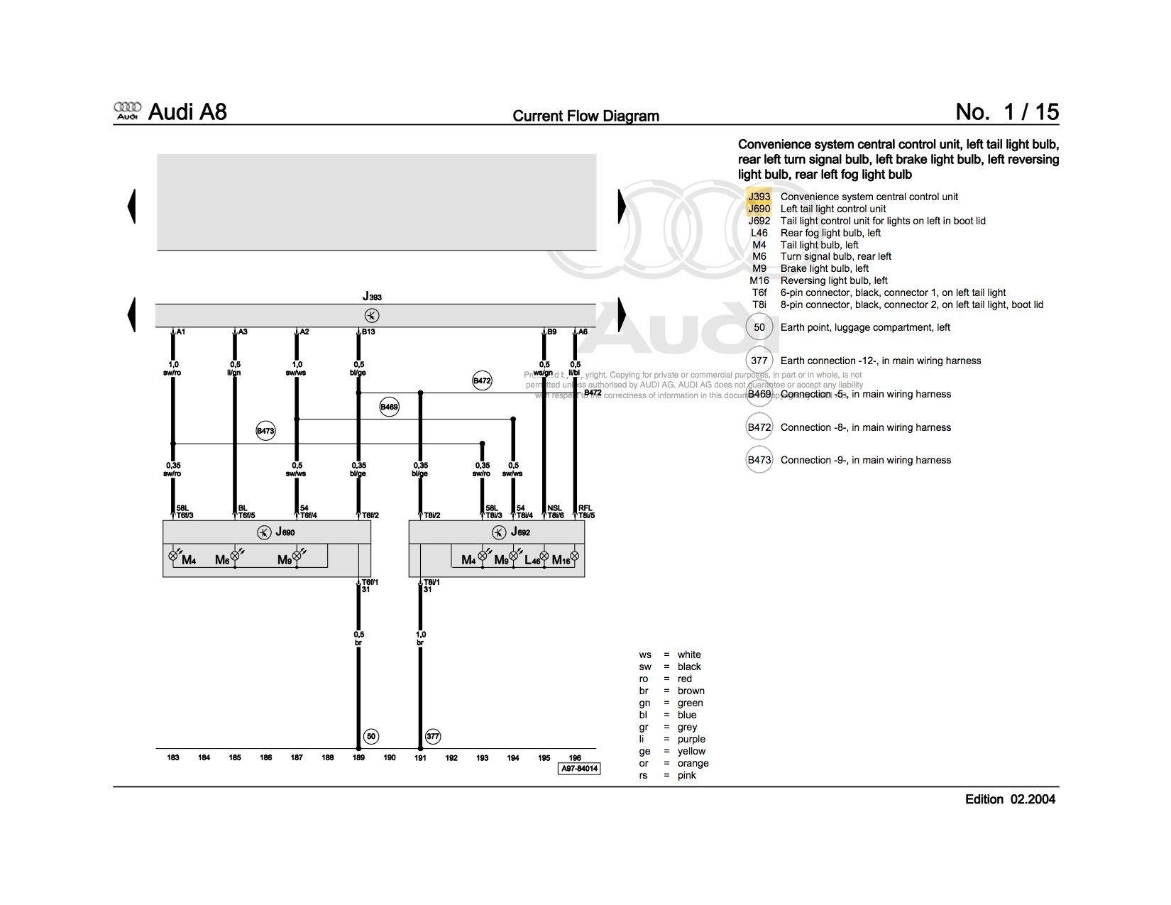 2005 A8l Turn Signal Problem - Help