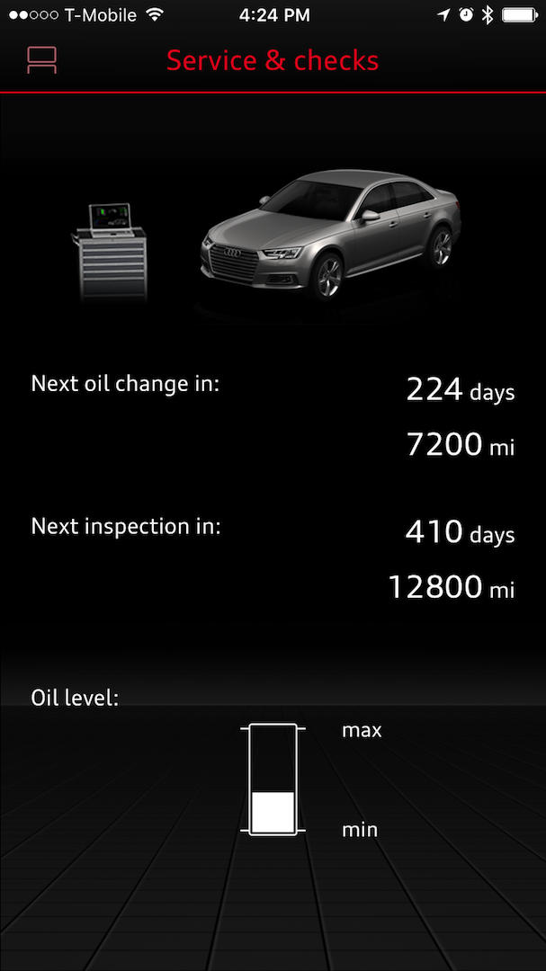 Audi Connect Oil Level Bug? - AudiWorld Forums