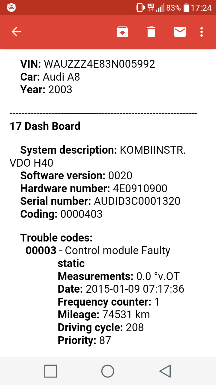 Dash Board control module fault code - AudiWorld Forums