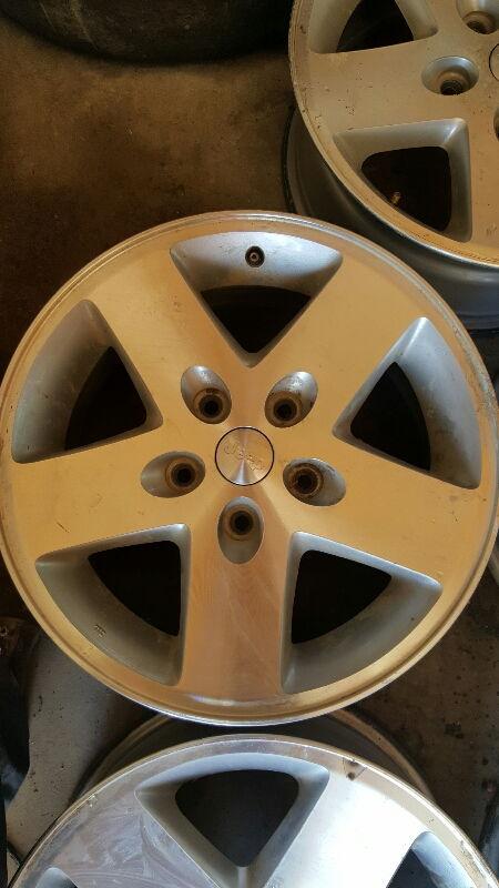 "17X7 5 Rims >> FS [GreatLakes]: (5) Five OEM 17"" Jeep Moab Rims 5x5 bolt pattern - Jeep Cherokee Forum"