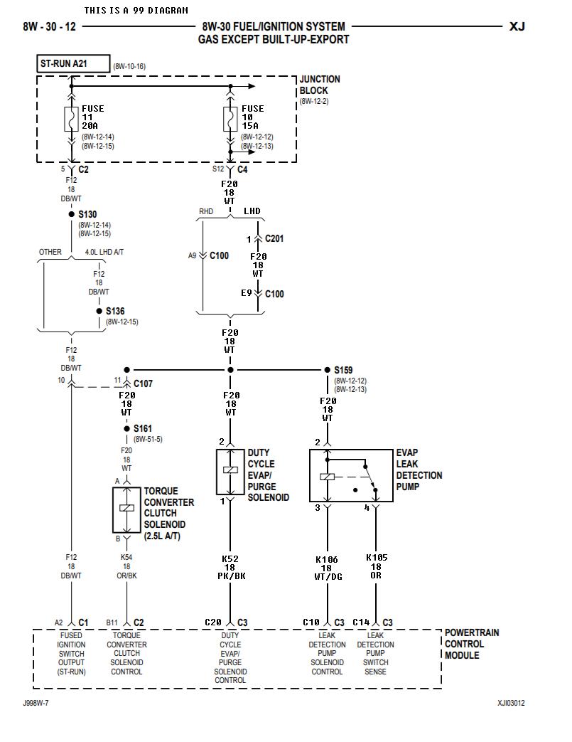 Wiring diagram Leak detection pump - Jeep Cherokee Forum