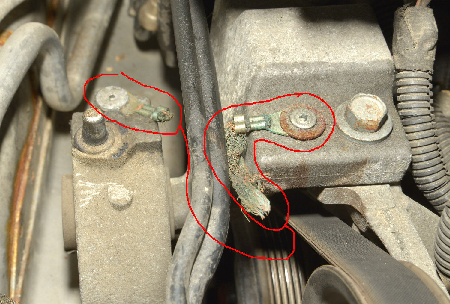 Suggestions for new engine ground strap for 2007 Pacifica ...