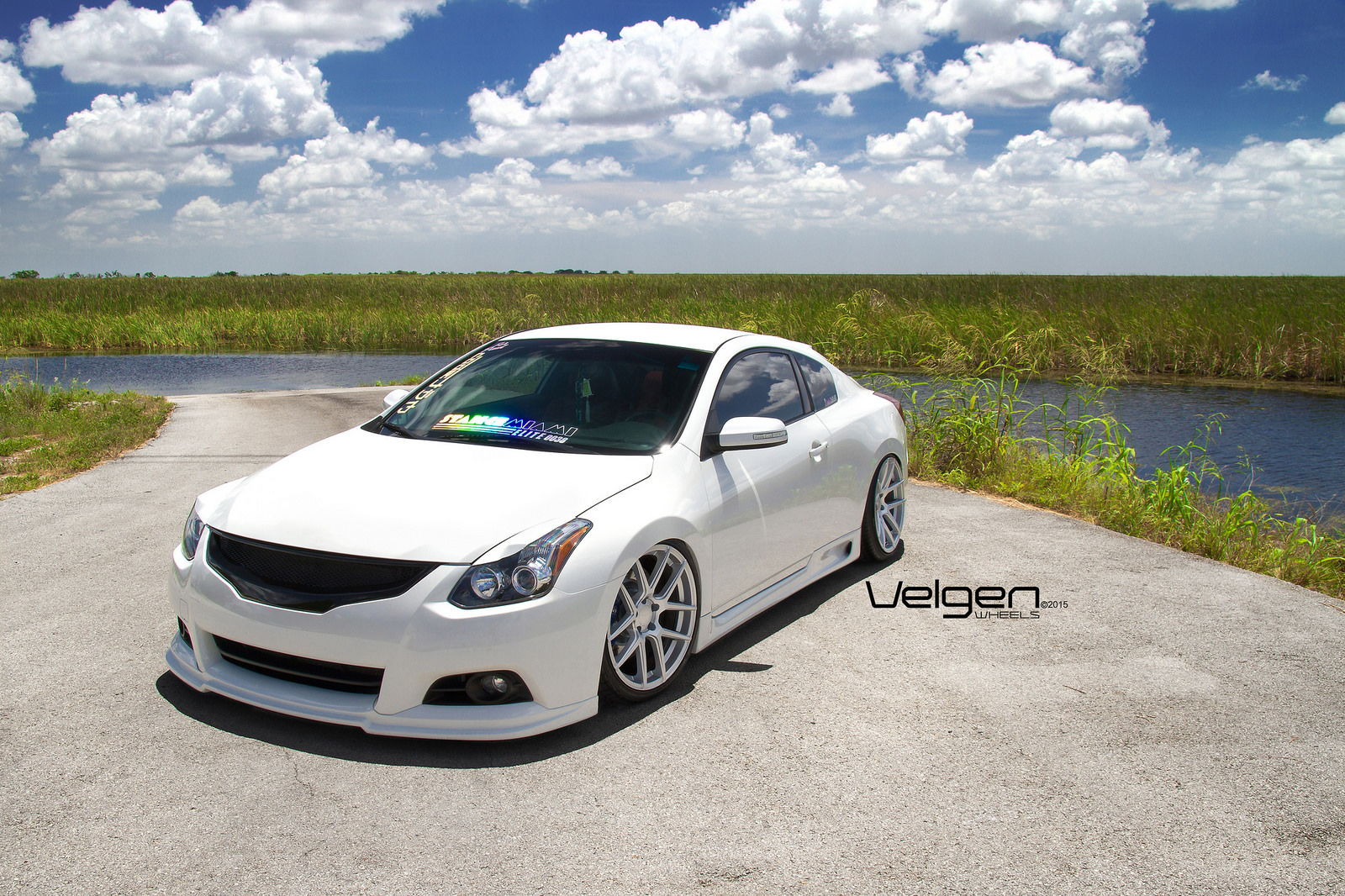 bagged nissan altima coupe on velgen wheels vmb5. Black Bedroom Furniture Sets. Home Design Ideas