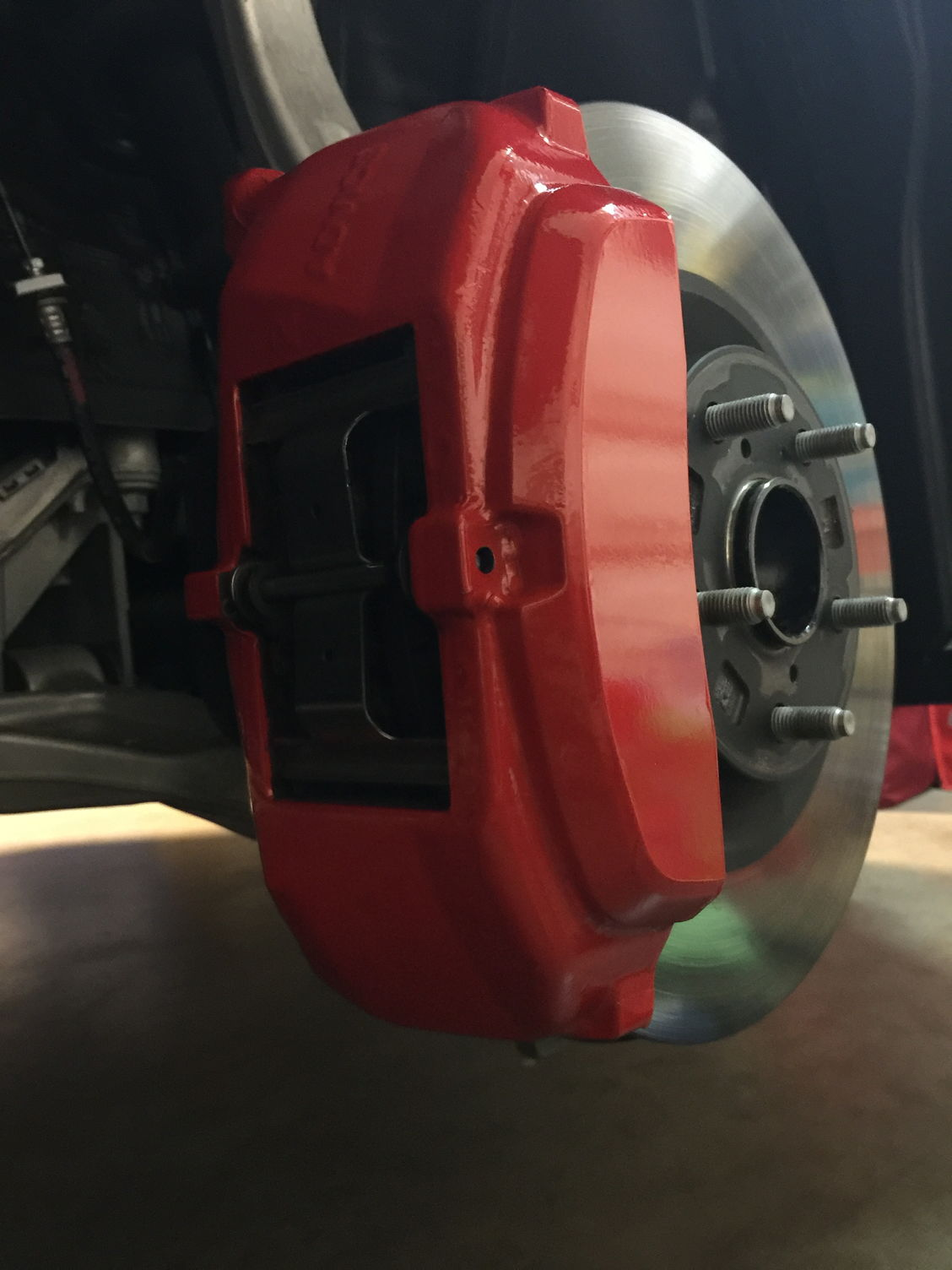 3m Reflective Red Brake Caliper Vinyl Wrap Clublexus