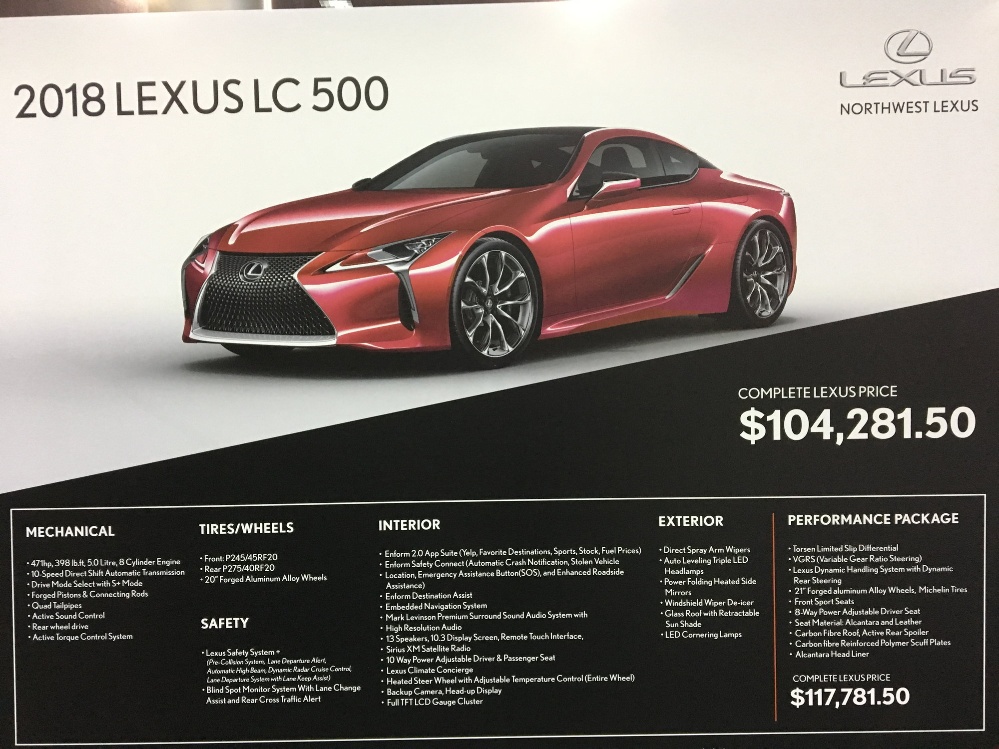 Lc 500 Lc 500h Pricing And Options Clublexus Lexus Forum Discussion