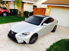 Is250 f sport silver and red