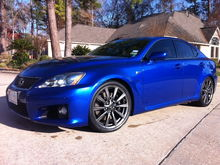 2008 Blue Lexus ISF