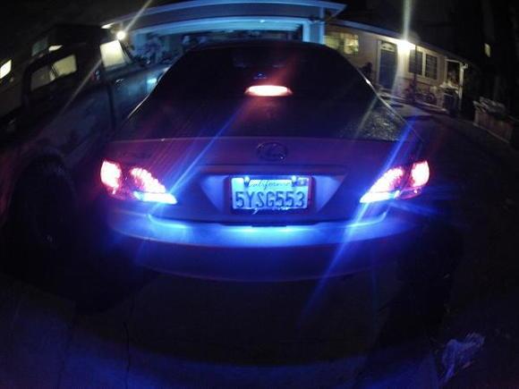 Blue L.E.D. Reverse Lights Aftermarket Tail Lenses