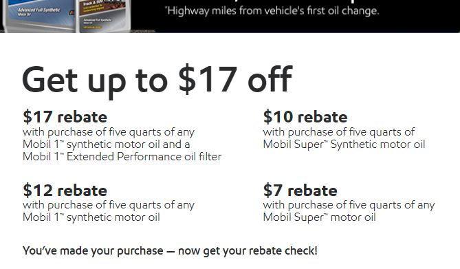Mobil 1 Rebate >> Mobil 1 Rebate Best Upcoming Car Release 2020