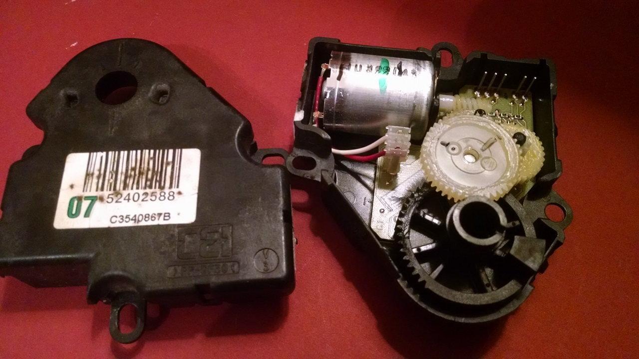 Revised blend door actuators? - CorvetteForum - Chevrolet