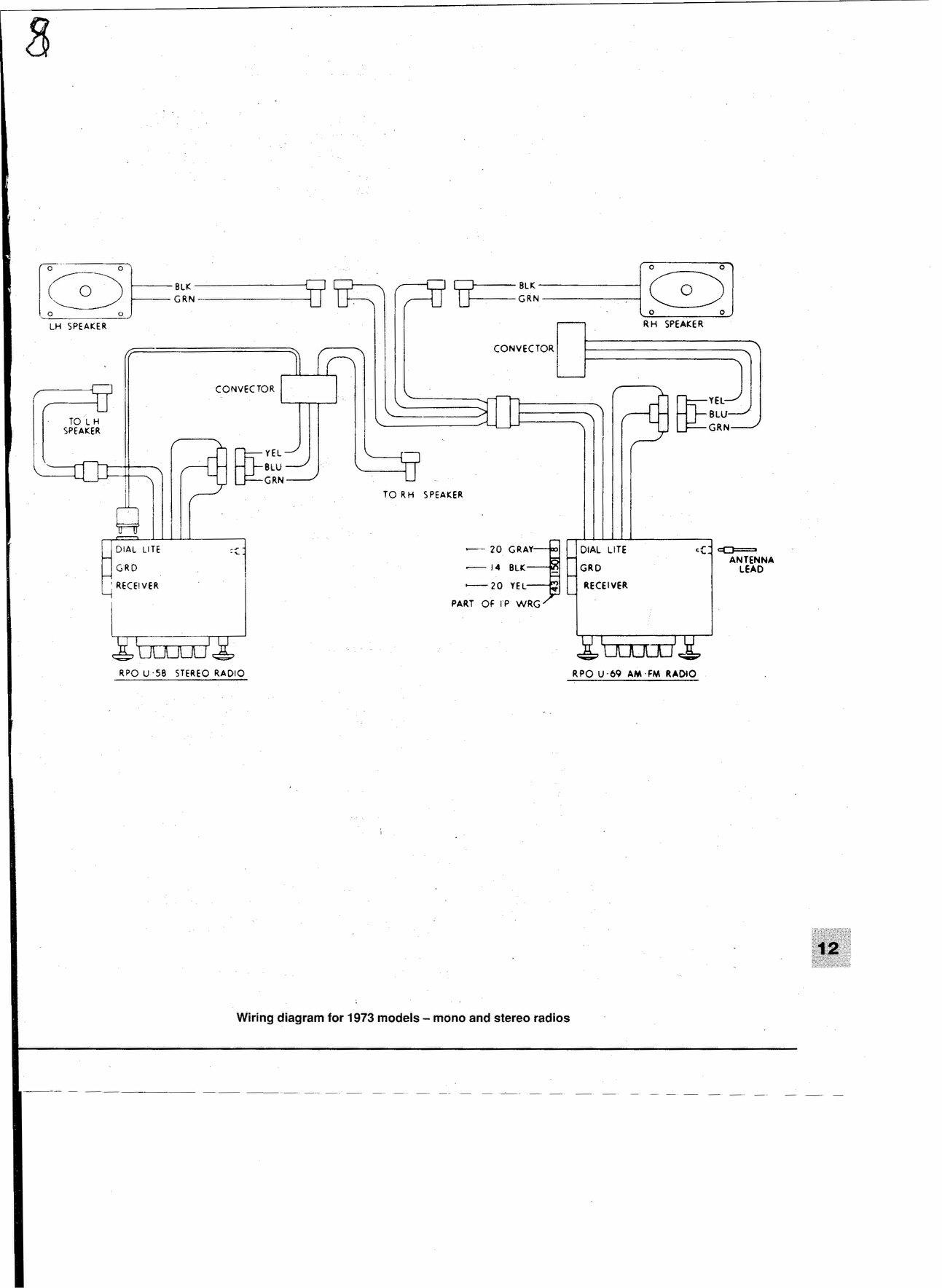 Factory Radio  U0026 Amp 70 Vette Color Wiring Code - Corvetteforum