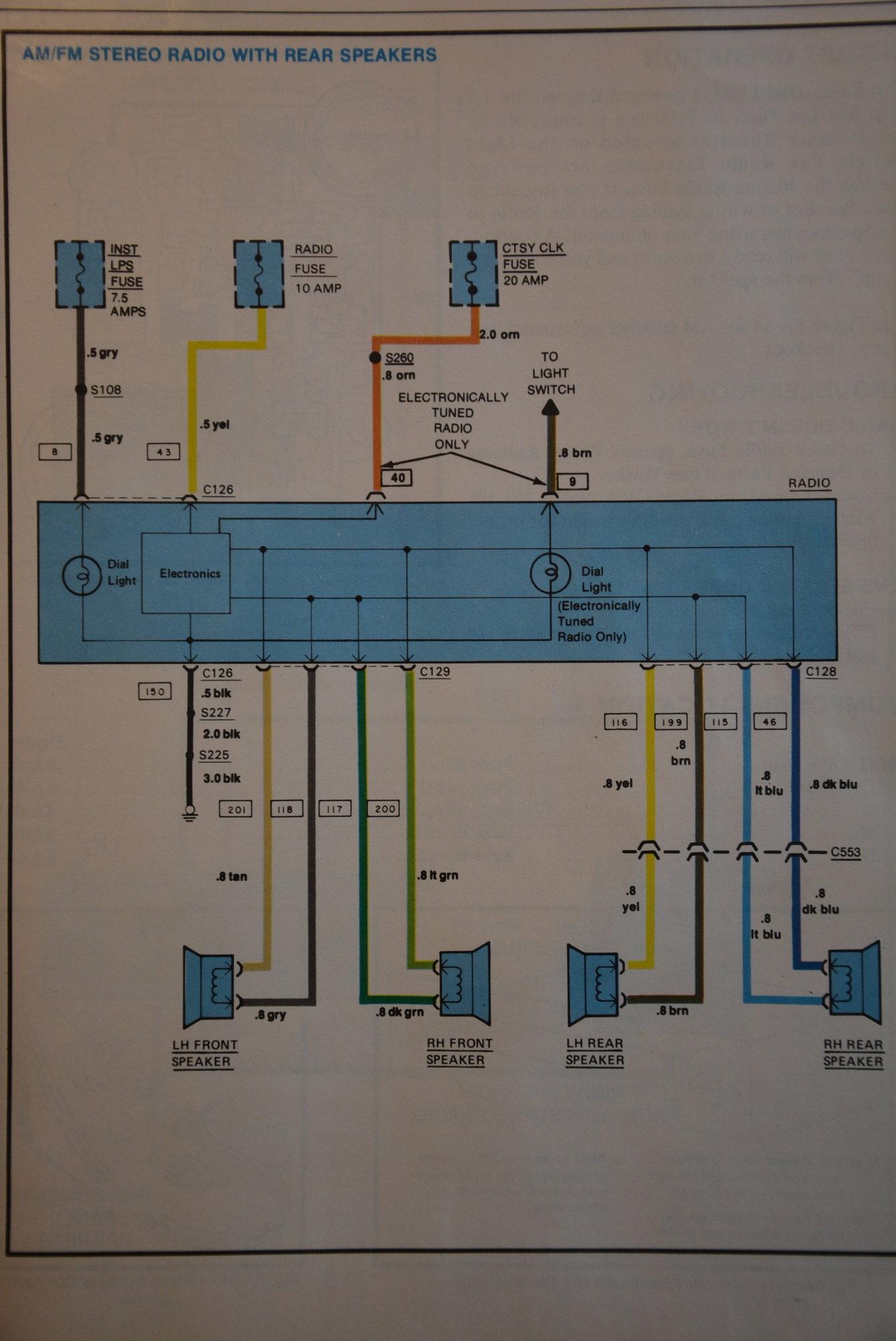 C3 Corvette Radio Wiring Diagram