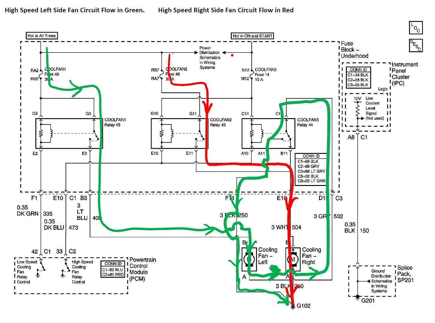 c5_cooling_fan_schematic_high_speed_marked_up_57dae365836290d6d96b4a72b0d7423ff85595c2 cooling fan on right side no working? corvetteforum chevrolet